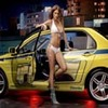 Girl with yellow Evo